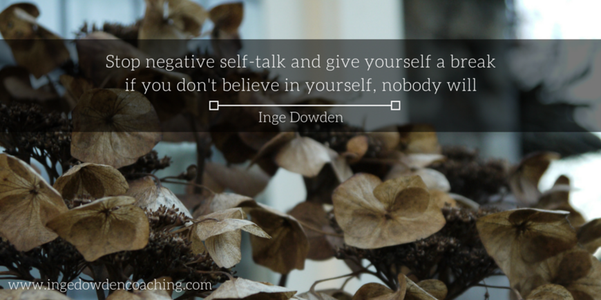 Stop negative self-talk